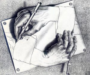 Drawing Hands (1948) - M.C. Escher