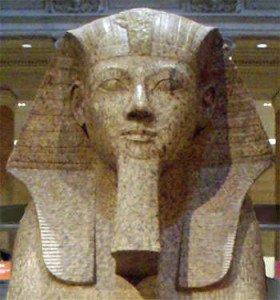 Hatshepsut depicted as a male pharaoh