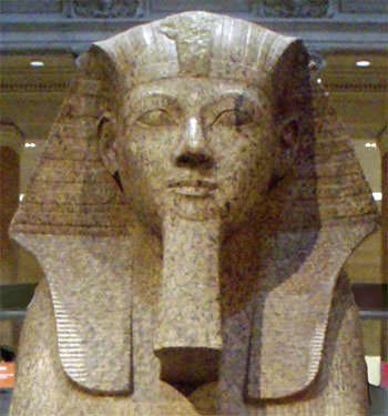 Hatshepsut depicted as a male pharaoh