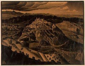 Italian Town (1932) - M.C. Escher