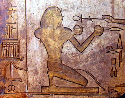 Relief of Thutmose II in Karnak Temple