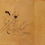 A section of The Admonitions of the Instructress to the Court Ladies - Gu Kaizhi