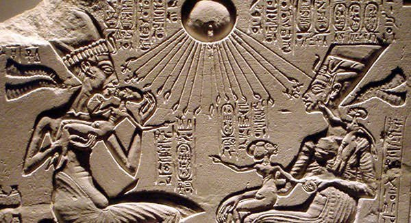 Akhenaten, Nefertiti And Three Of Their Daughters