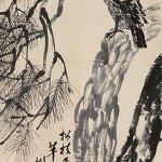 Eagle Standing on Pine Tree - Qi Baishi