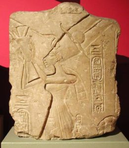 Nefertiti Worshipping Aten