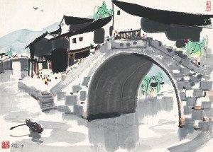 Water Village in Jiangnan - Wu Guanzhong