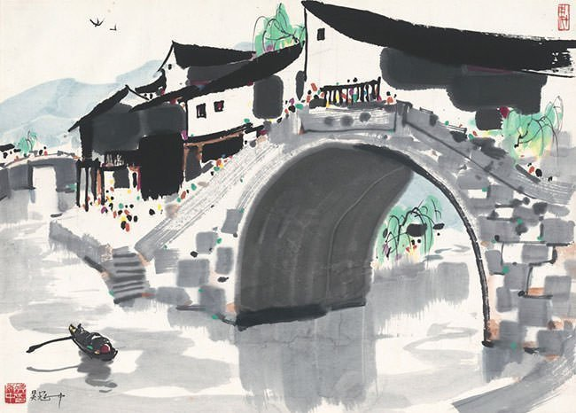 Water Village in Jiangnan - Wu Guanzhong