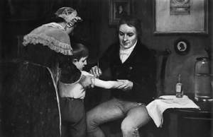 Edward Jenner vaccinating James Phipps