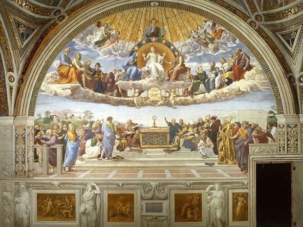 Disputation of the Holy Sacrament (1510) - Raphael