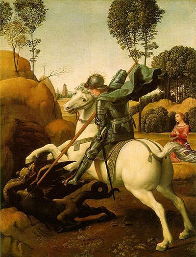 Saint George and the Dragon (1506) - Raphael