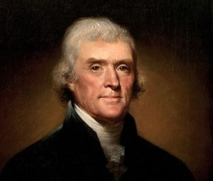 US President Thomas Jefferson