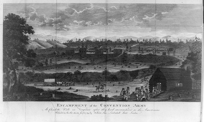 Encampment of the Convention Army at Charlottesville, Virginia