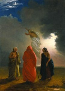 Witches conjuring an apparition by William Rimmer