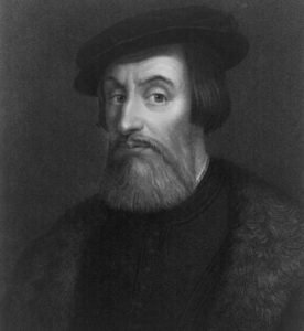 Engraving of Hernan Cortes by William Holl