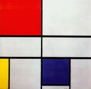Composition with Red, Yellow, and Blue - Piet Mondrian