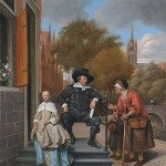 Double portrait of Adolf Croeser and his daughter Catharina Croeser - Jan Steen
