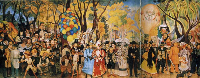 Dream of a Sunday Afternoon In Alameda Park by Diego Rivera