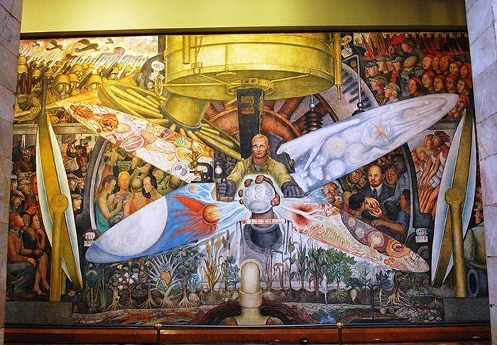Man at the Crossroads (recreated version after the controversy) - Diego Rivera