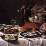 Still Life with Turkey Pie - Pieter Claesz