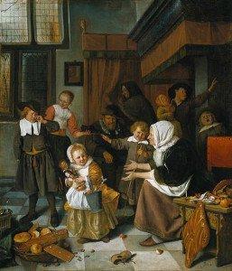 The Feast of Saint Nicholas - Jan Steen