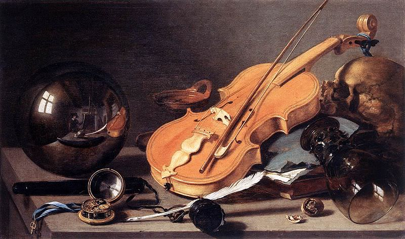Vanitas with Violin and Glass Ball - Pieter Claesz