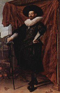 Willem van Heythuysen posing with a sword - Frans Hals