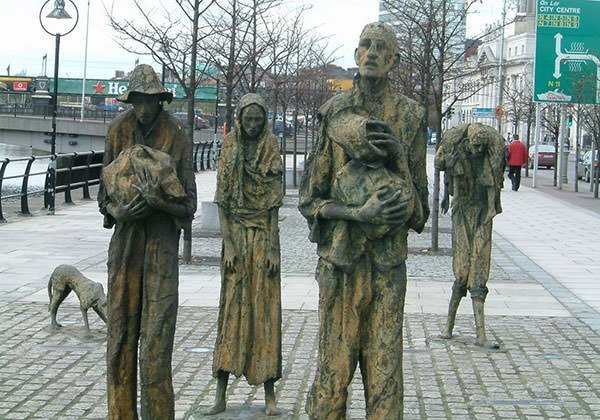 Famine Memorial in Dublin