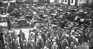 Russian prisoners at the Battle of Tannenberg