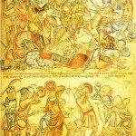 Battle of Bannockburn Holkham Bible