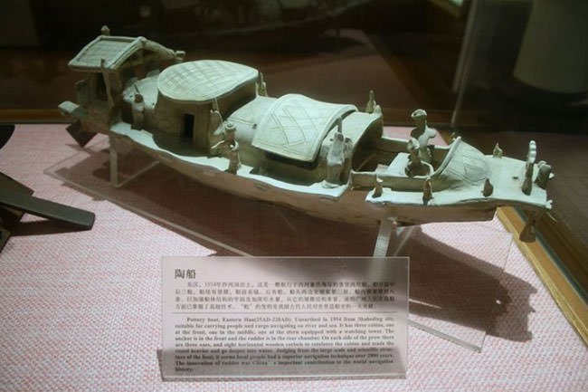 A pottery ship model of Eastern Han