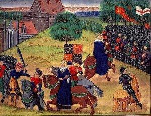 Depiction Wat Tyler and Richard II meeting