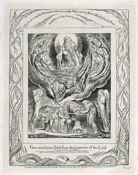 Book of Job Illustration by Blake