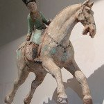 A ceramic female polo player of Tang Dynasty