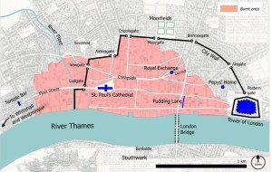 Great Fire of London Map