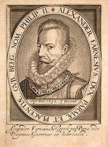 Alexander Farnese Engraving