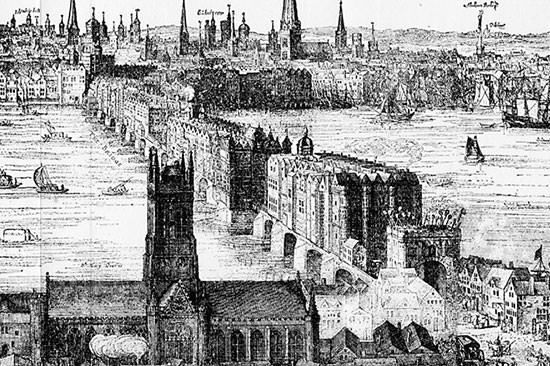 Old London Bridge Engraving