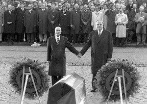 Francois Mitterrand and Helmut Kohl