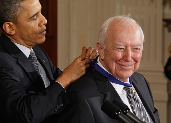 Jasper Johns receives the Presidential Medal of Freedom