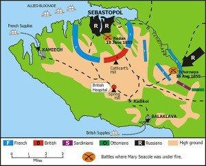 Mary Seacole Crimean War Map