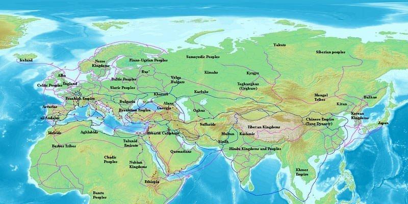 Tang Era Trade Routes Map
