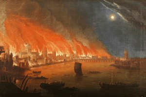 London Great Fire Painting