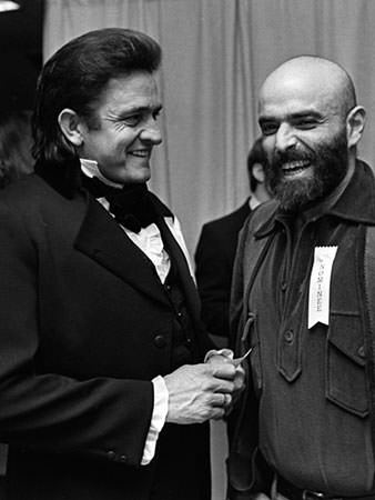 Shel Silverstein and Johnny Cash