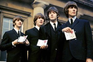 The Beatles with their MBEs