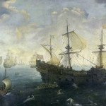 The Spanish Armada by Cornelis Claesz van Wieringen