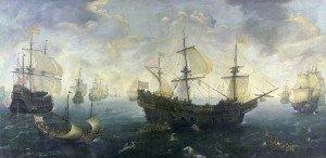 The Spanish Armada by Cornelis Claesz van Wieringen