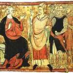Thomas Becket with King Henry II
