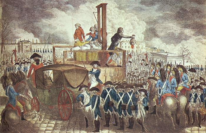 Execution of Louis XVI engraving