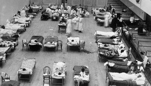 Oakland Municipal Auditorium during the 1918 pandemic