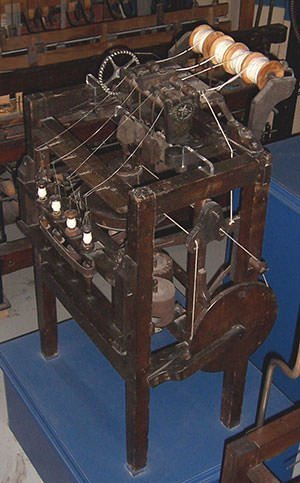 An Arkwright water frame