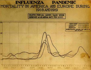 Death Chart of Spanish flu